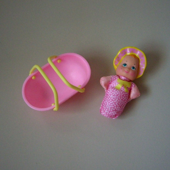 Vintage So Small Babies Doll, GUMBALL BABY,  Galoob 1989.