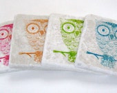Neon Decor Owls, Owl Coasters