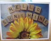 HeLLo  SunSHiNe Photo  Note card