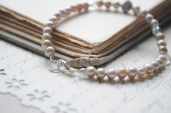 Mermaid Maiden-- Fresh water pearls and quartz briolettes