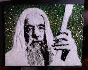 Gandalf -glitter art 9x12
