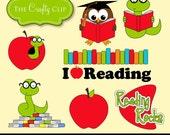 SALE! Reading Rocks Clipart Set