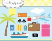 SALE! Bon Voyage Clip Art Set