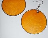 Stunning orange shell earrings