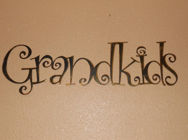 Grandkids Metal Wall Sign