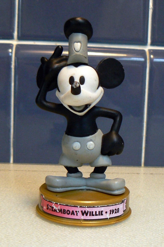 Mickey Mouse 100 Years Figurine Steamboat Willie By Edimae
