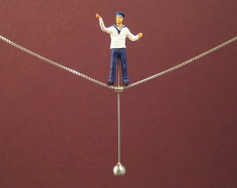 """Tightrope walk """"Seaman"""" - Necklace"""