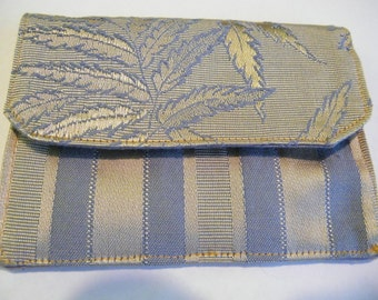 Blue and Gold wallet Giftcard Holder Money Holder Pouch