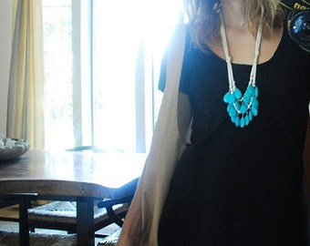 turquoise and cream necklace