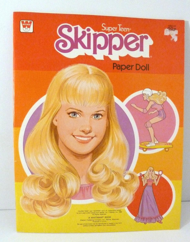Super Teen Skipper Paper Doll 1980