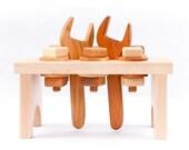 Wooden Toy Workbench in Maple (Developmental, Montessori, Natural, Wood Toy)