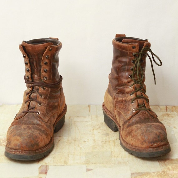 10.5 ON SALE red wing logger boots