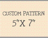 "CUST104 Rolling Mill Custom Pattern (12 dollar one-time set-up fee,12.60 pattern fee) 5"" x 7"""