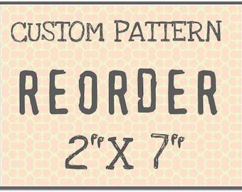 """CUST106 Custom Rolling Mill Pattern Reorder  """"2 x 7"""""""