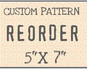 """CUST108 Custom Rolling Mill Pattern Reorder  5"""" x 7"""""""