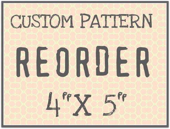 """CUST107 Custom Rolling Mill Pattern Reorder 4"""" x 5"""""""