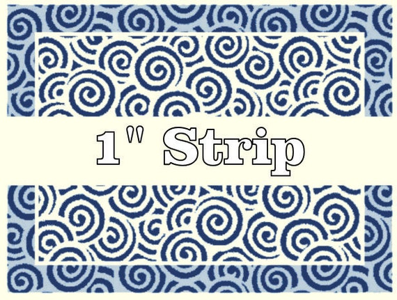 M110 Rolling Mill (Repeating Spiral Strip-1) Low Relief Pattern 1.4x7 inches