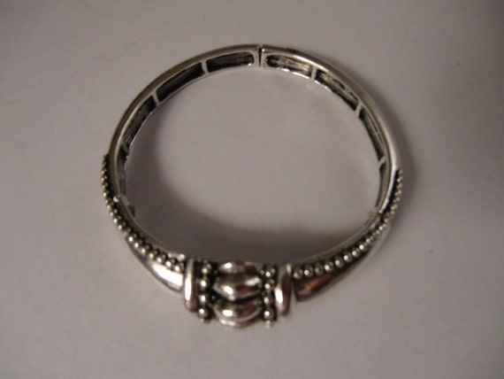 Vintage CHICOS Silver Stretch Bangle Bracelet