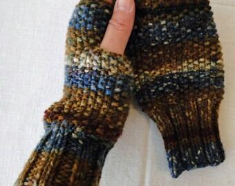 Knit Autumn Figerless Gloves