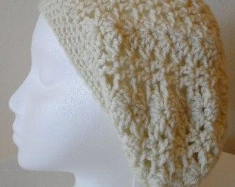 Crochet Short Slouch Hat