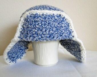 Crochet Baby Aviator Hat, Cap, Beanie