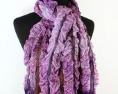 Lavender nuno felted scarf purple hand painted scarf shawl wrap chunky texture lavender purple rust under 150 christmas preview gift guide