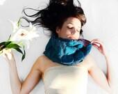 Nuno felted scarf Emerald free shipping green Modern nuno felted emerald green wool scarf in urban minimalism style eco friendly