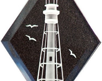 Carved Glass Hillsboro Lighthouse Hanging Suncatcher