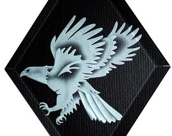 Carved Glass Eagle Hanging Suncatcher
