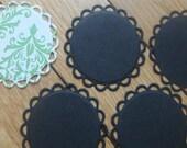 Lacey Circles Die Cuts - Spellbinders Nestabilities Black Set of 5
