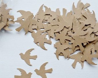 Kraft Paper Doves 100 Paper Birds Die Cut Birds