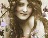Among The Flowers 2 Vintage  DIGITAL photo