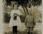 Camera Kids, Dreamy vintage photo DIGITAL download