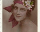 Pretty Vintage Lady,  photo digital download