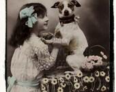 My Special Dog, Digital Vintage Photo