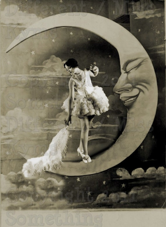 Lady Moon Dusting The Moon Lovely Lady