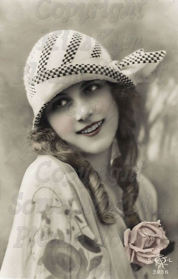 Flapper Beautiful Woman vintage photo digital by MsAlisEmporium