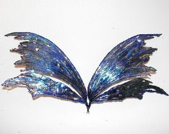 Fairy Wings-Ooak-Iridescent-Blue Fairy Wings (Made to Order)
