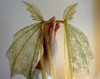 Fairy Wings-Iridescent-for Children-On Golden Wings(Made By Request)