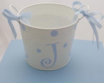 baby pail/personalized
