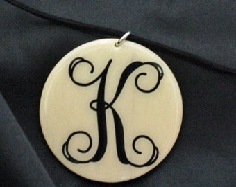 monogram necklace/all occasion