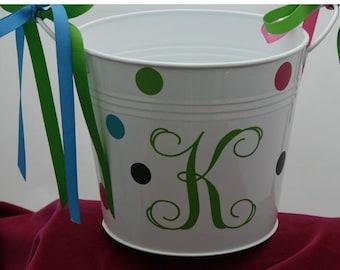 monogram pail/very versatile