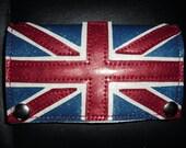 Union Jack Blue Metal Flake Wallet