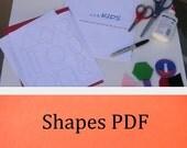 Shapes - Preschool Lesson Plan  --- PDF