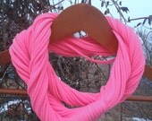 Infinity Scarf - Neon Pink Color
