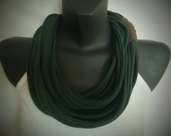Infinity Scarf - Forest Green Color