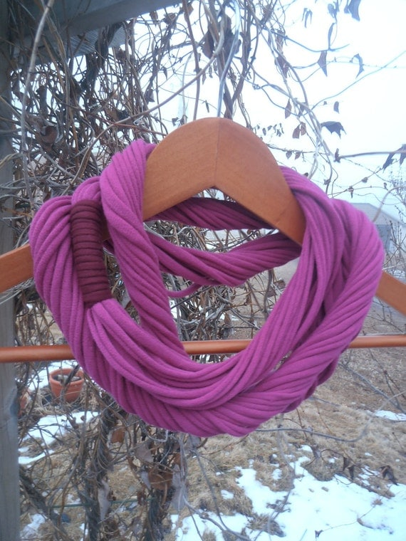 Infinity Scarf - Raspberry Color