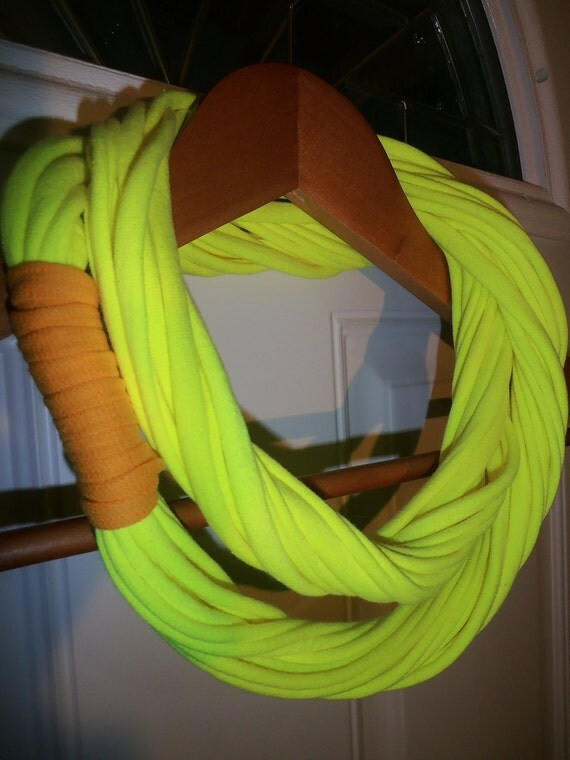 Infinity Scarf - Neon Yellow Color