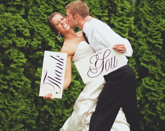 Wedding Photo Prop Thank You Wooden Boards Great for Thank You Cards