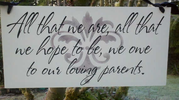 Wedding Gift For Parents Etsy : Items similar to Wedding Signs, Gift for your Parents, at you Wedding ...